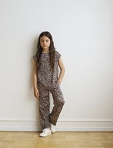 Trousers - spodnie - brown shadow leopard print
