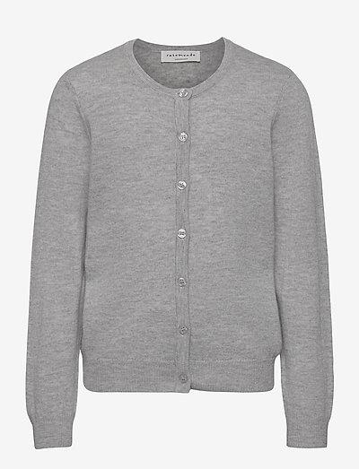 Cardigan ls - gilets - light grey melange