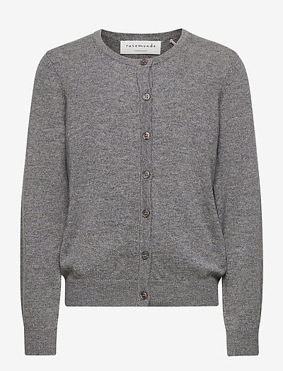 Cardigan ls - gilets - medium grey melange