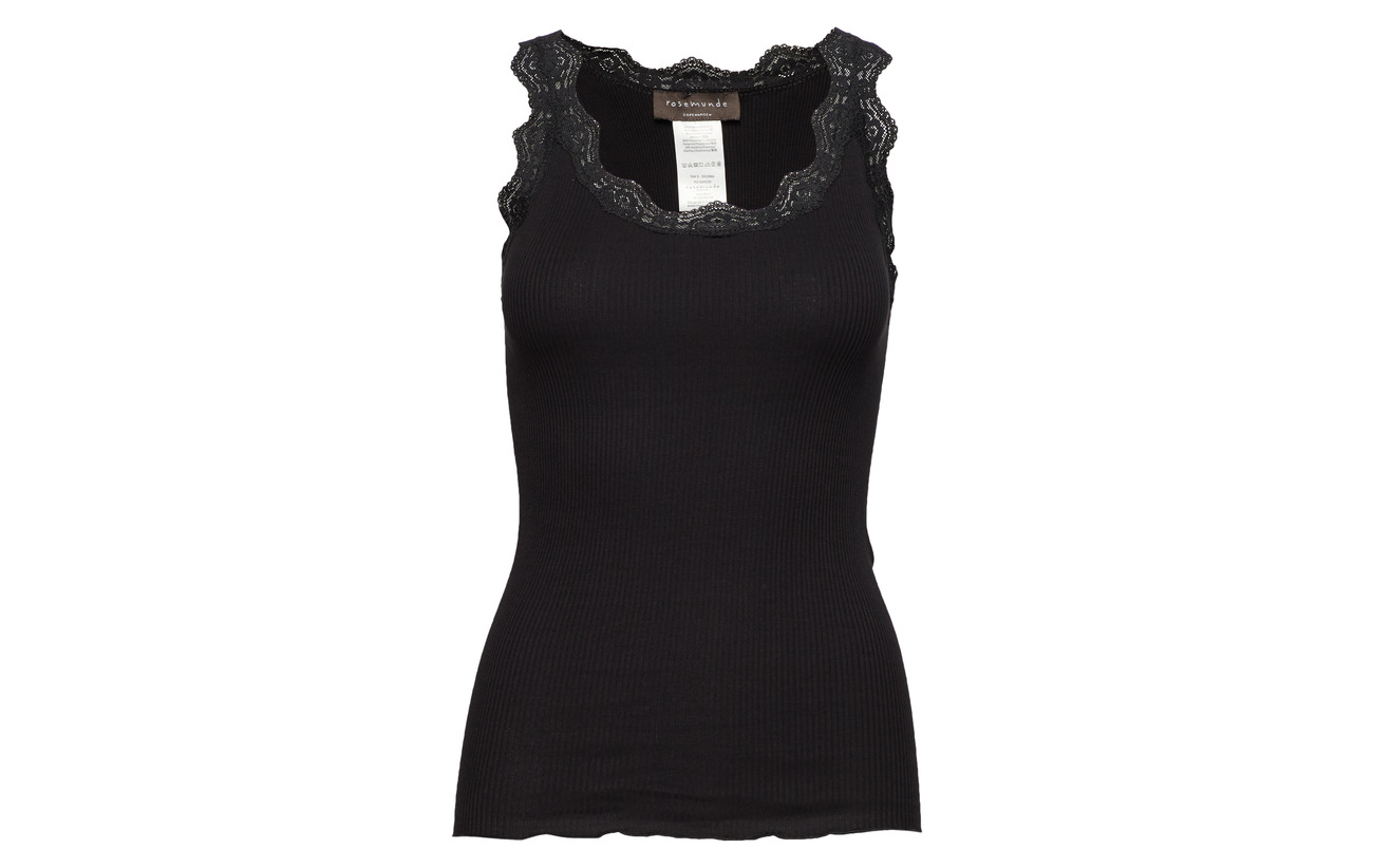 Coton Lace Rosemunde Top 100 Black W Organic Regular xvwqpBqa08