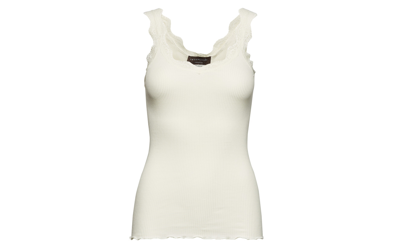 Organic W Lace 100 Coton Rosemunde White Regular Top New fOxpHpn