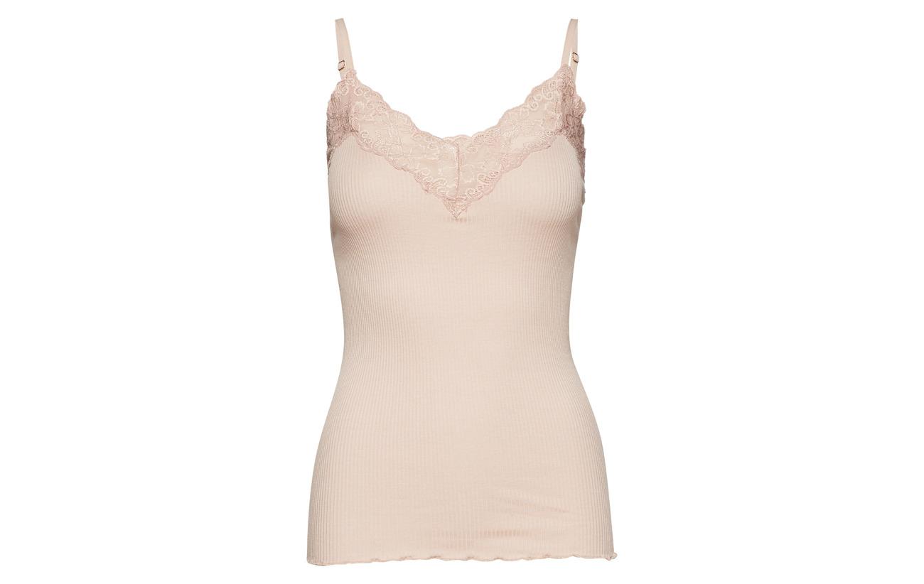 lace W Soie Top Regular Coton Silk Strap Navy 70 Rosemunde 30 UwFIqXxOx