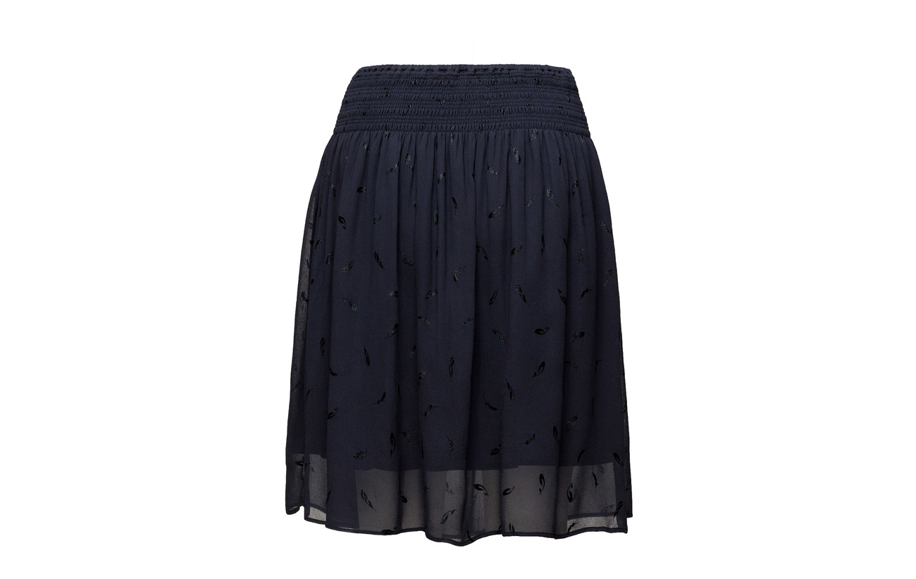 Skirt Rosemunde 100 Viscose Print Feather Cream Tan SgxWOnZdqg