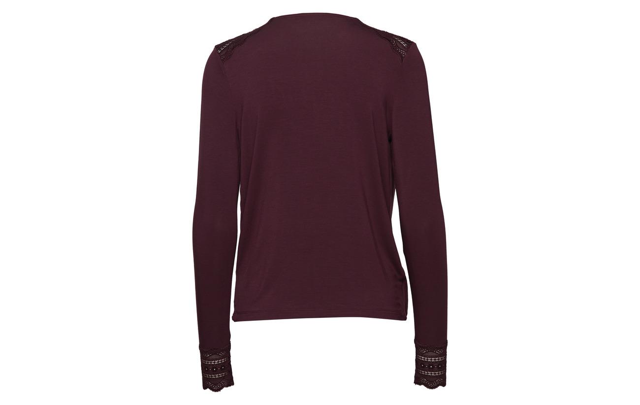 Blue shirt Viscose Elastane T Rosemunde 97 3 Dark Ls wI44qP