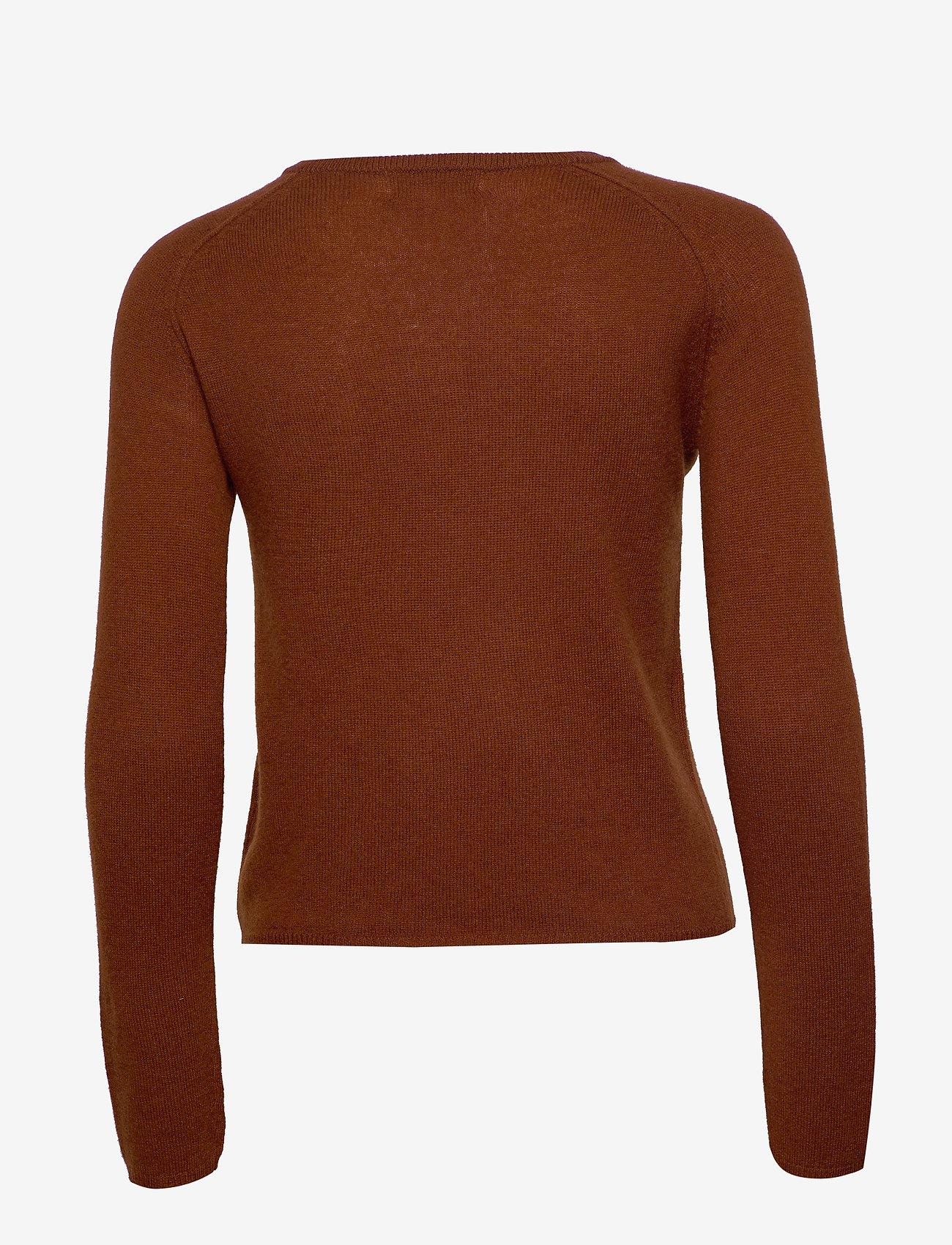 Rosemunde - Wool & cashmere cardigan ls - kashmir - amber brown - 1