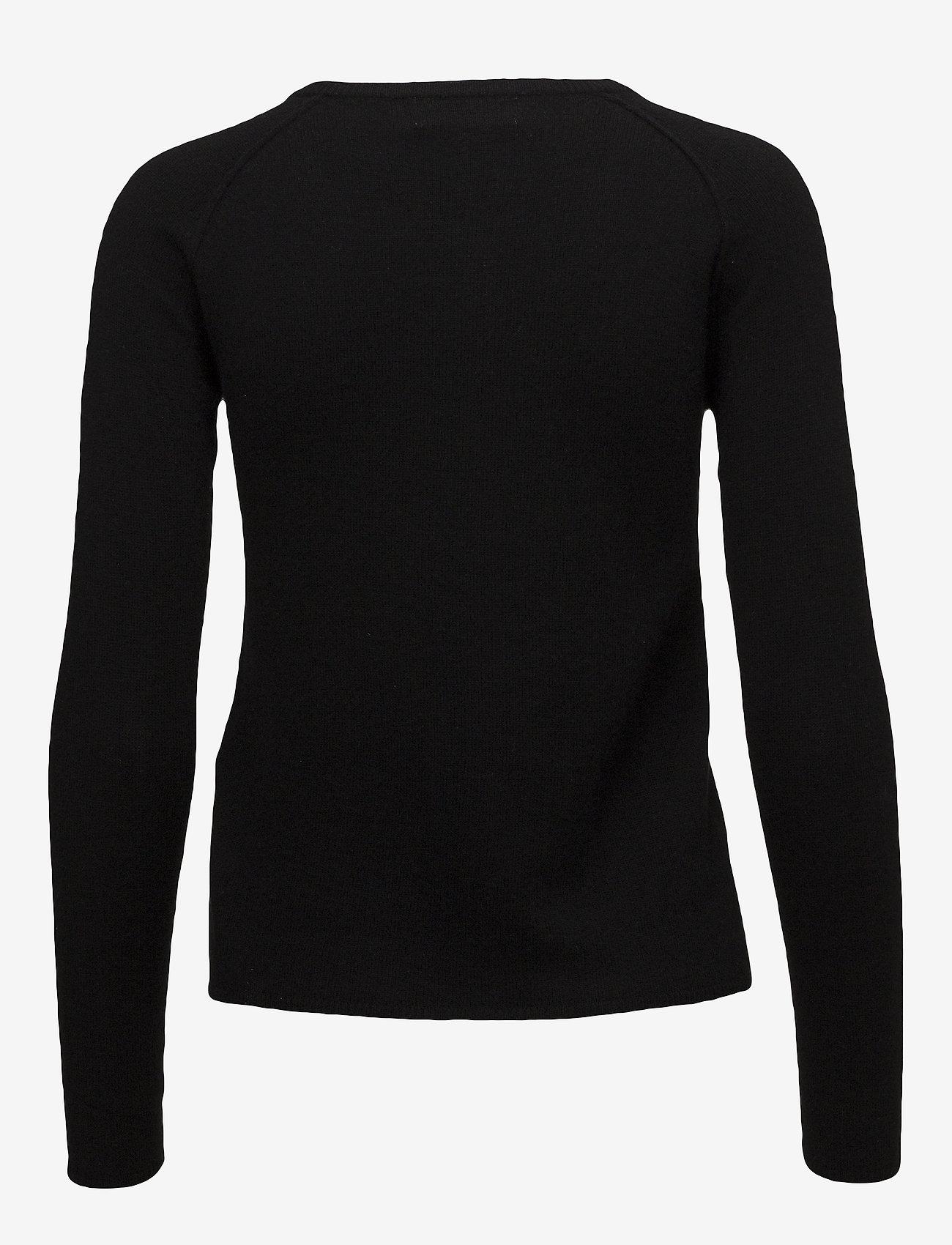 Rosemunde - Wool & cashmere cardigan ls - kashmir - black - 1