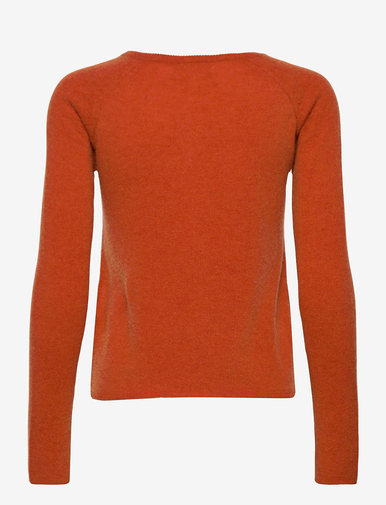 Rosemunde - Wool & cashmere cardigan ls - cardigans - burnt orange melange - 1