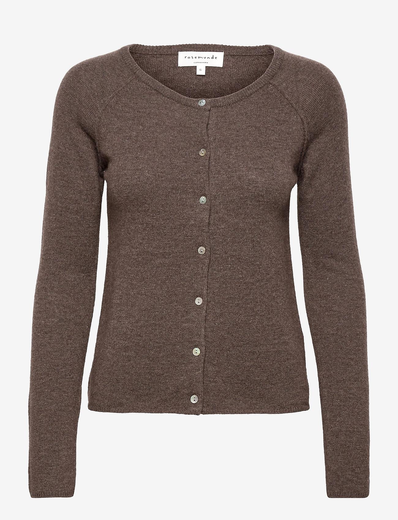 Rosemunde - Wool & cashmere cardigan - jakas - dark brown melange - 0