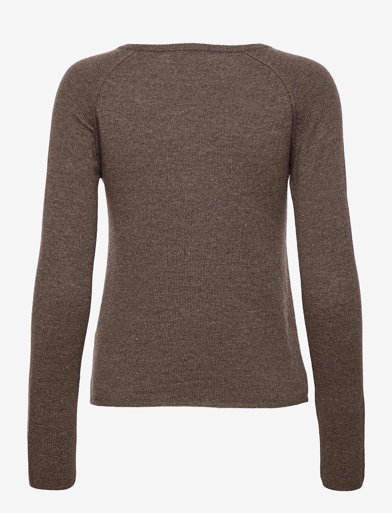Rosemunde - Wool & cashmere cardigan - jakas - dark brown melange - 1