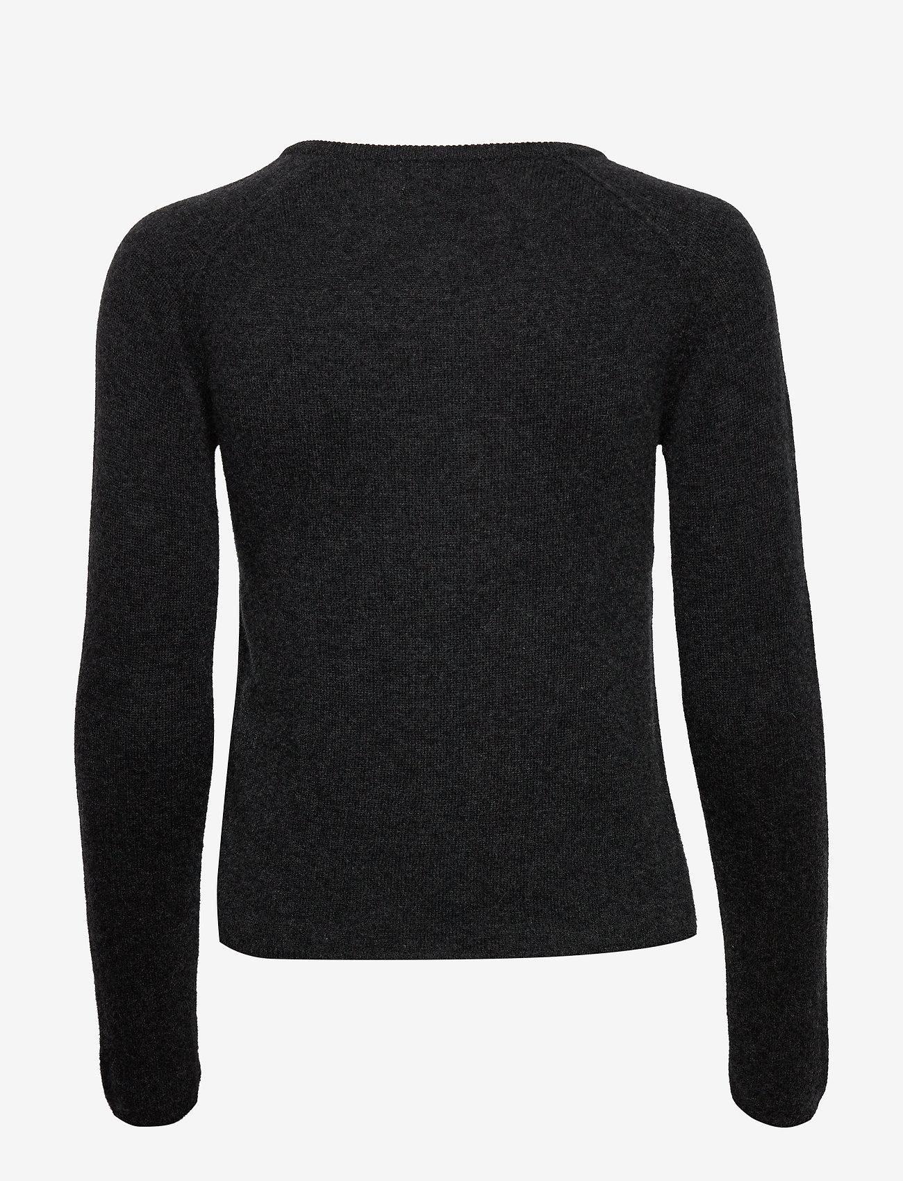 Rosemunde - Wool & cashmere cardigan ls - koftor - dark grey melange - 1