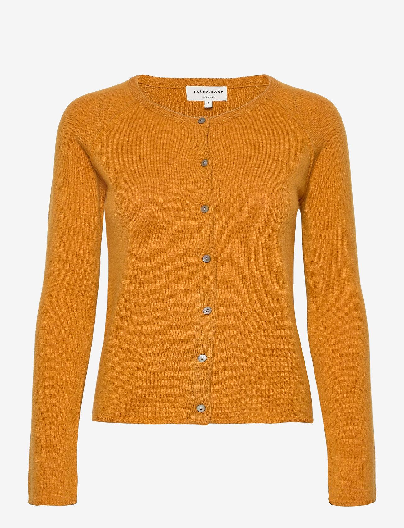 Rosemunde - Wool & cashmere cardigan ls - kashmir - golden mustard - 0