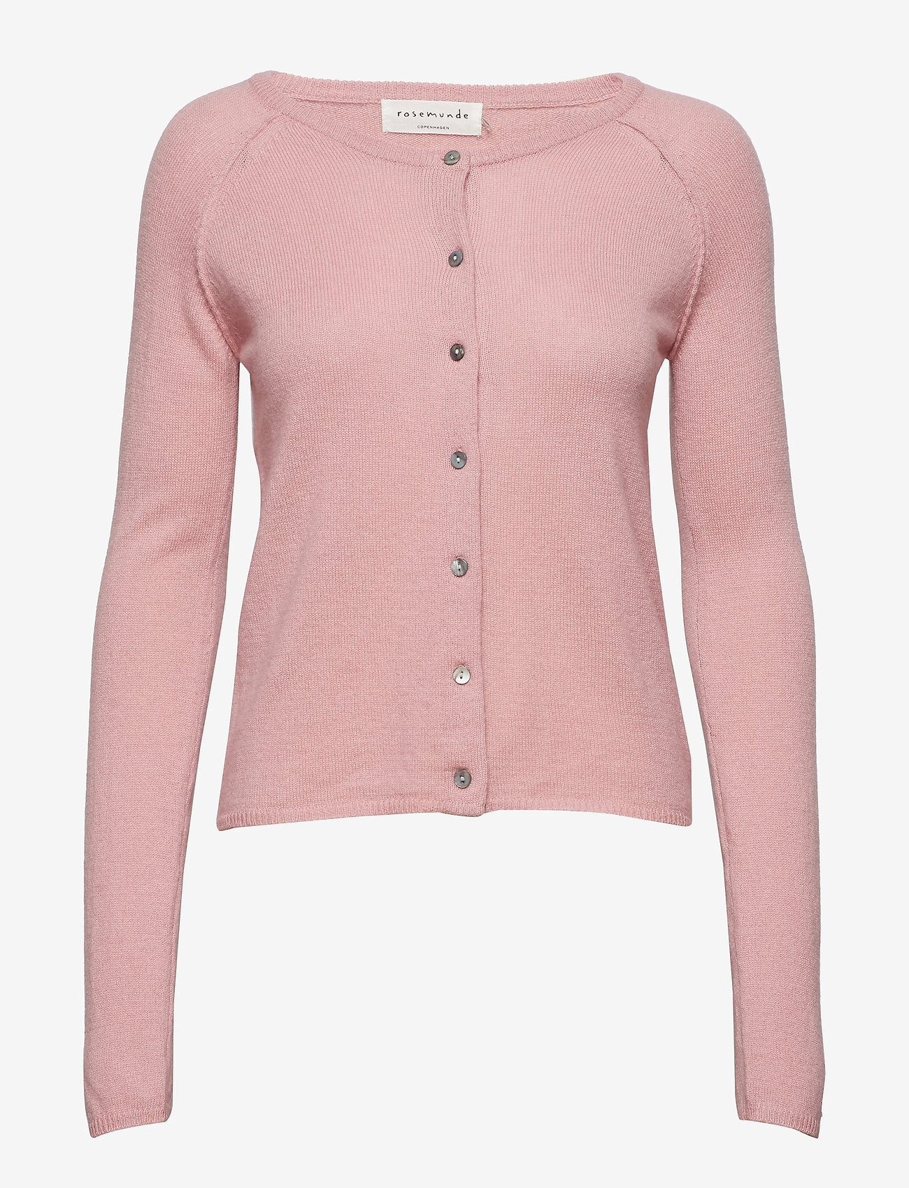 Rosemunde - Wool & cashmere cardigan ls - koftor - zephyr rose - 1
