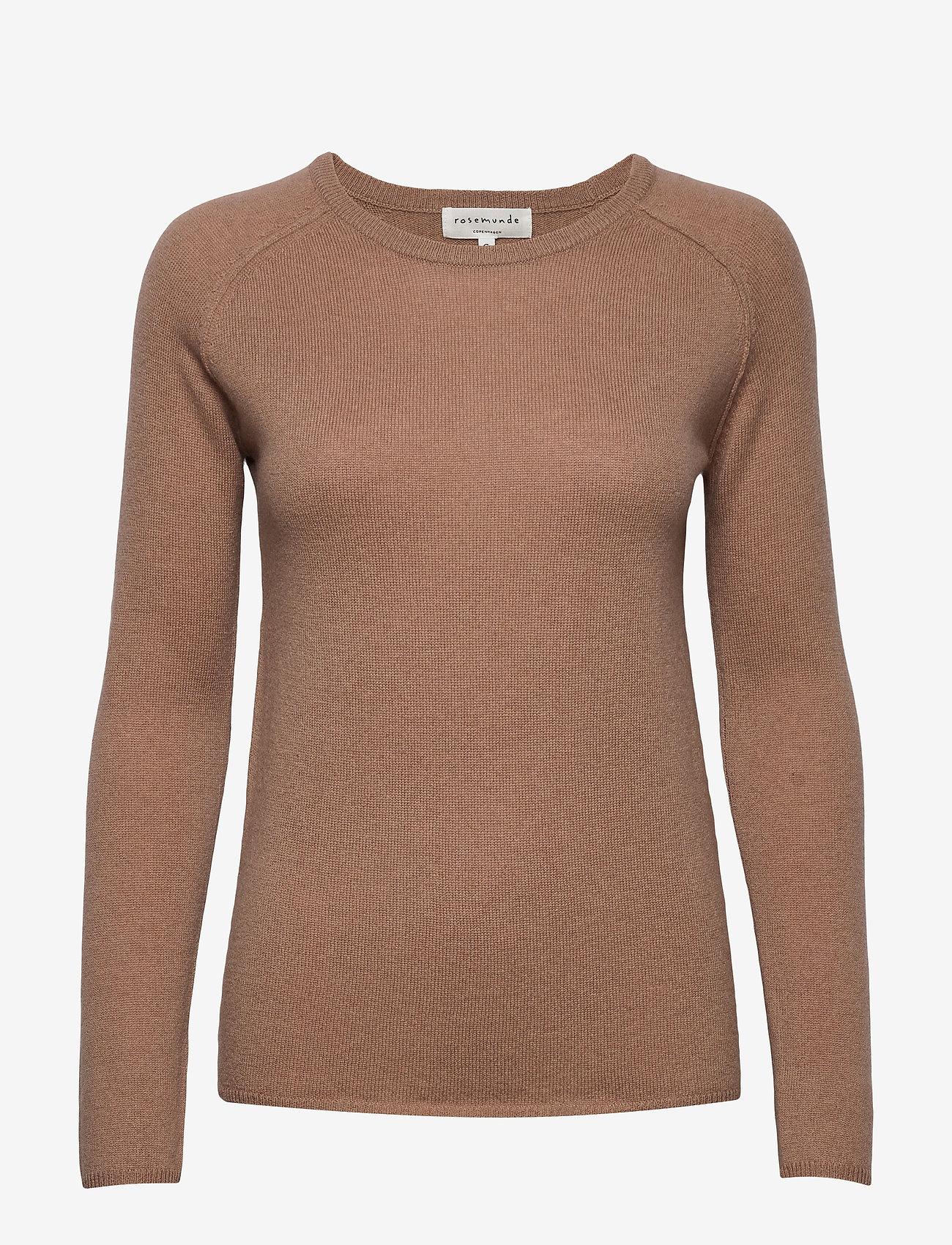 Rosemunde - Wool & cashmere pullover ls - kashmir - nougat brown - 0