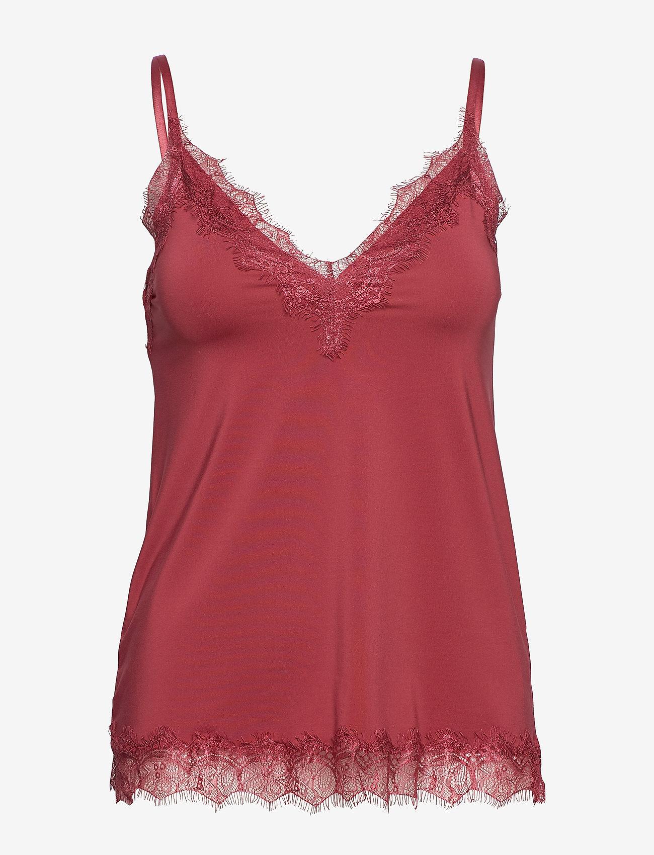 Rosemunde - Strap top - ermeløse bluser - scarlet red - 0