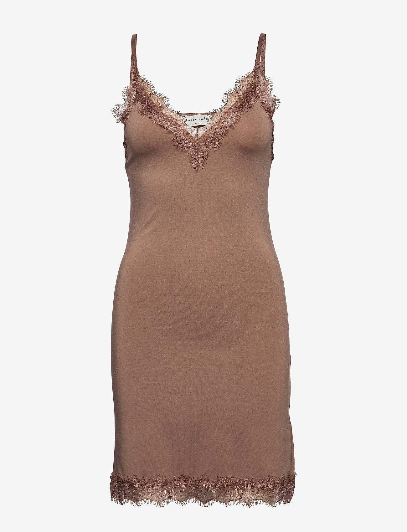 Rosemunde - Strap dress - korte kjoler - nougat brown - 0
