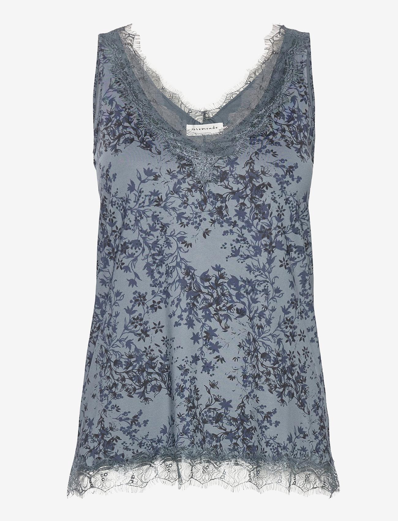 Rosemunde - Top - ermeløse bluser - blue poet floral print - 0