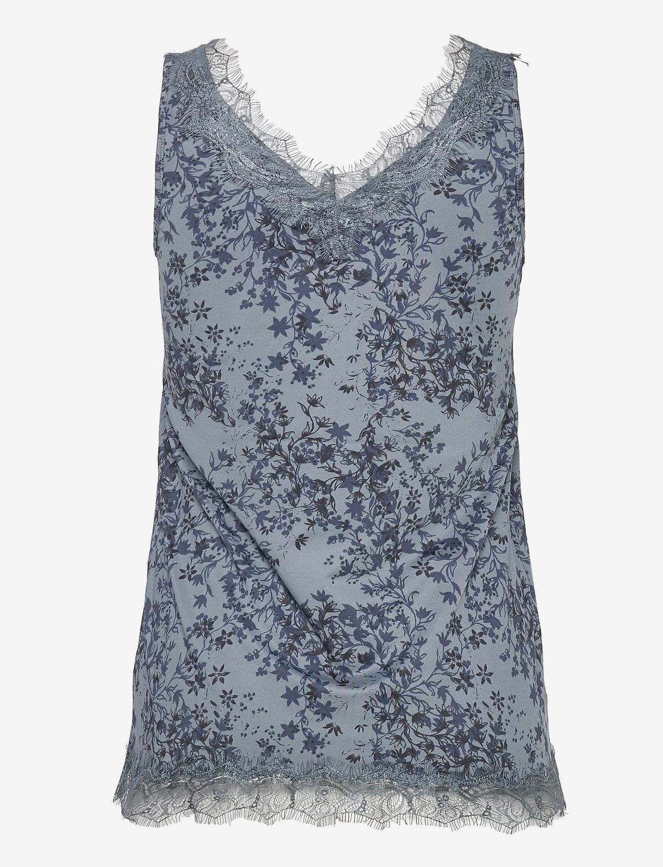 Rosemunde - Top - ermeløse bluser - blue poet floral print - 1