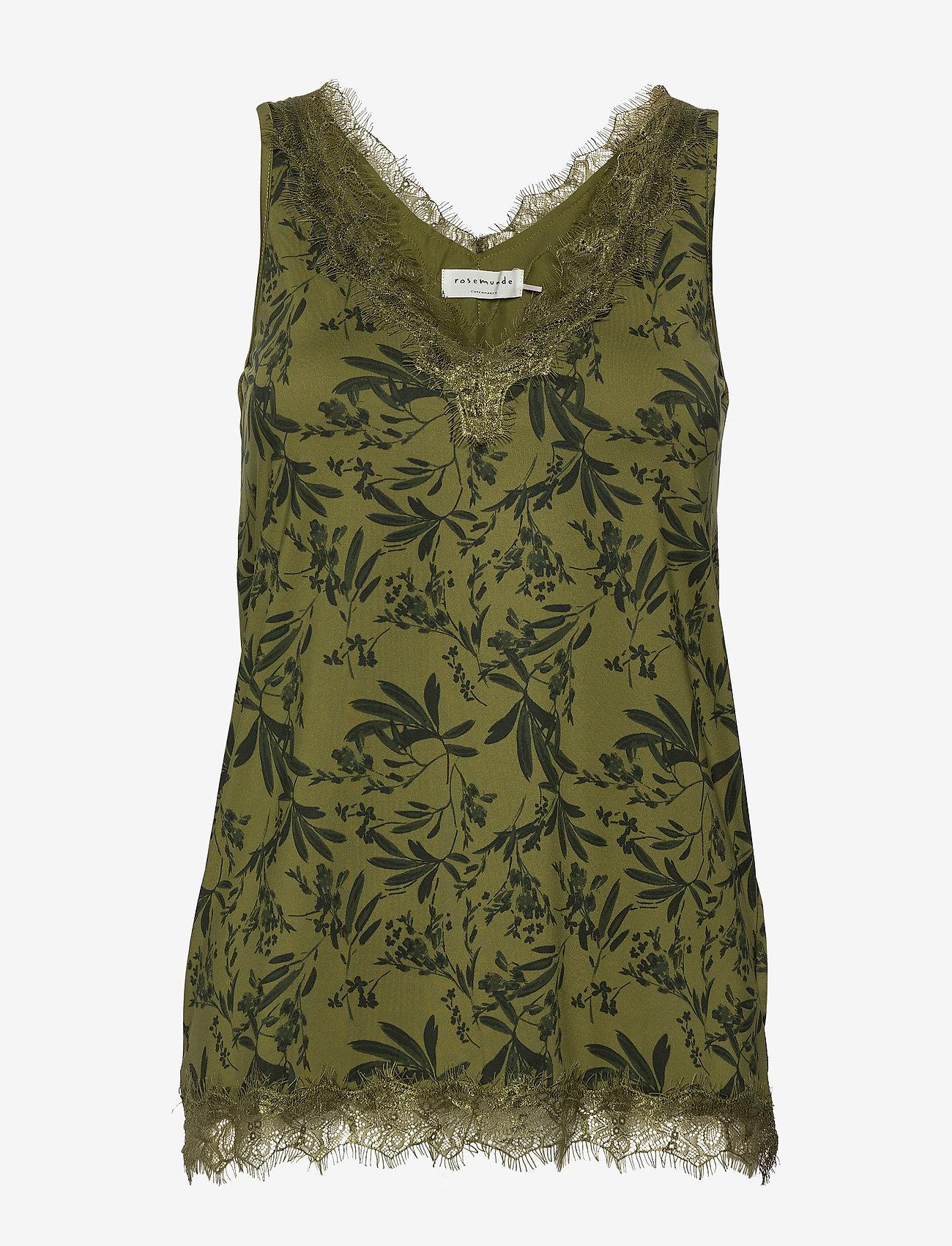 Rosemunde - Top - bluzki bez rękawów - green small leaf print