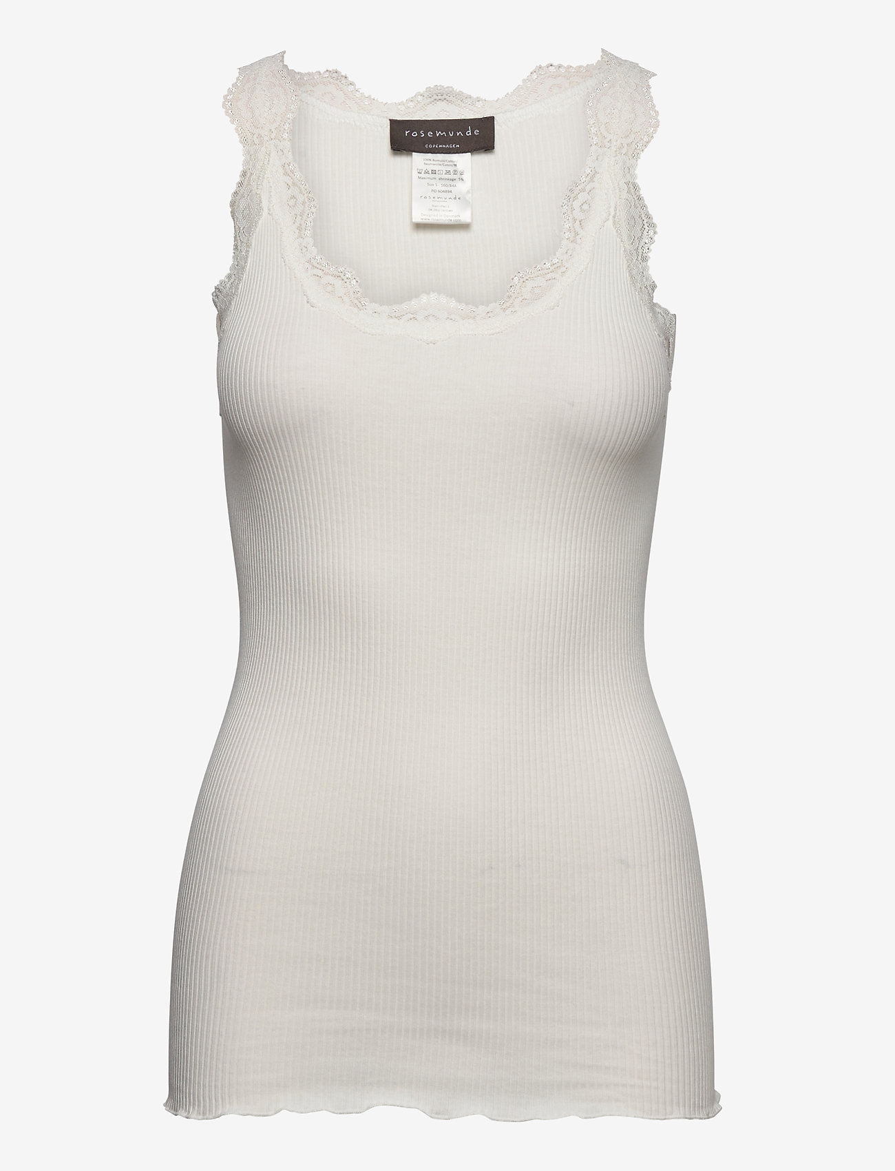 Rosemunde - Organic top w/ lace - linnen - ivory - 0