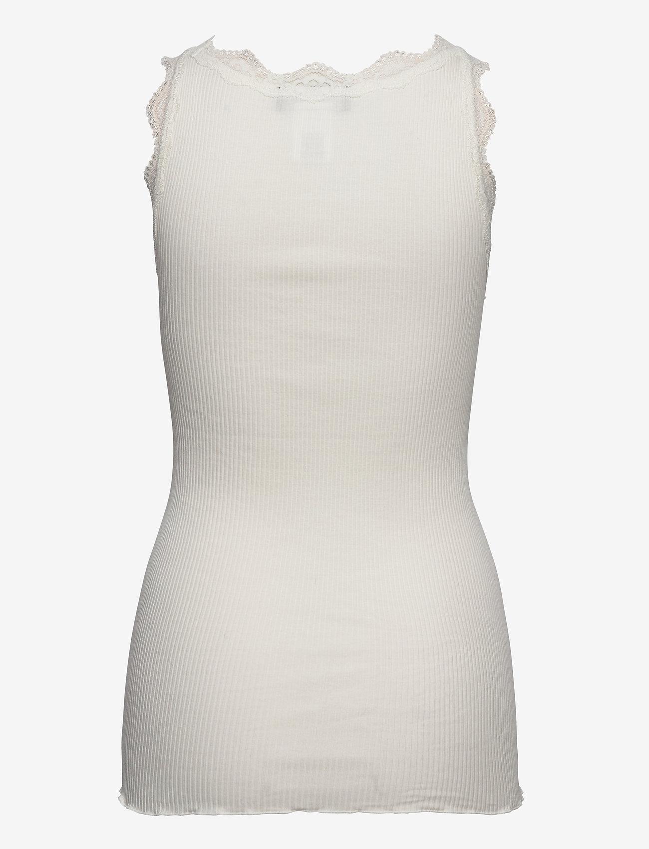 Rosemunde - Organic top w/ lace - linnen - ivory - 1