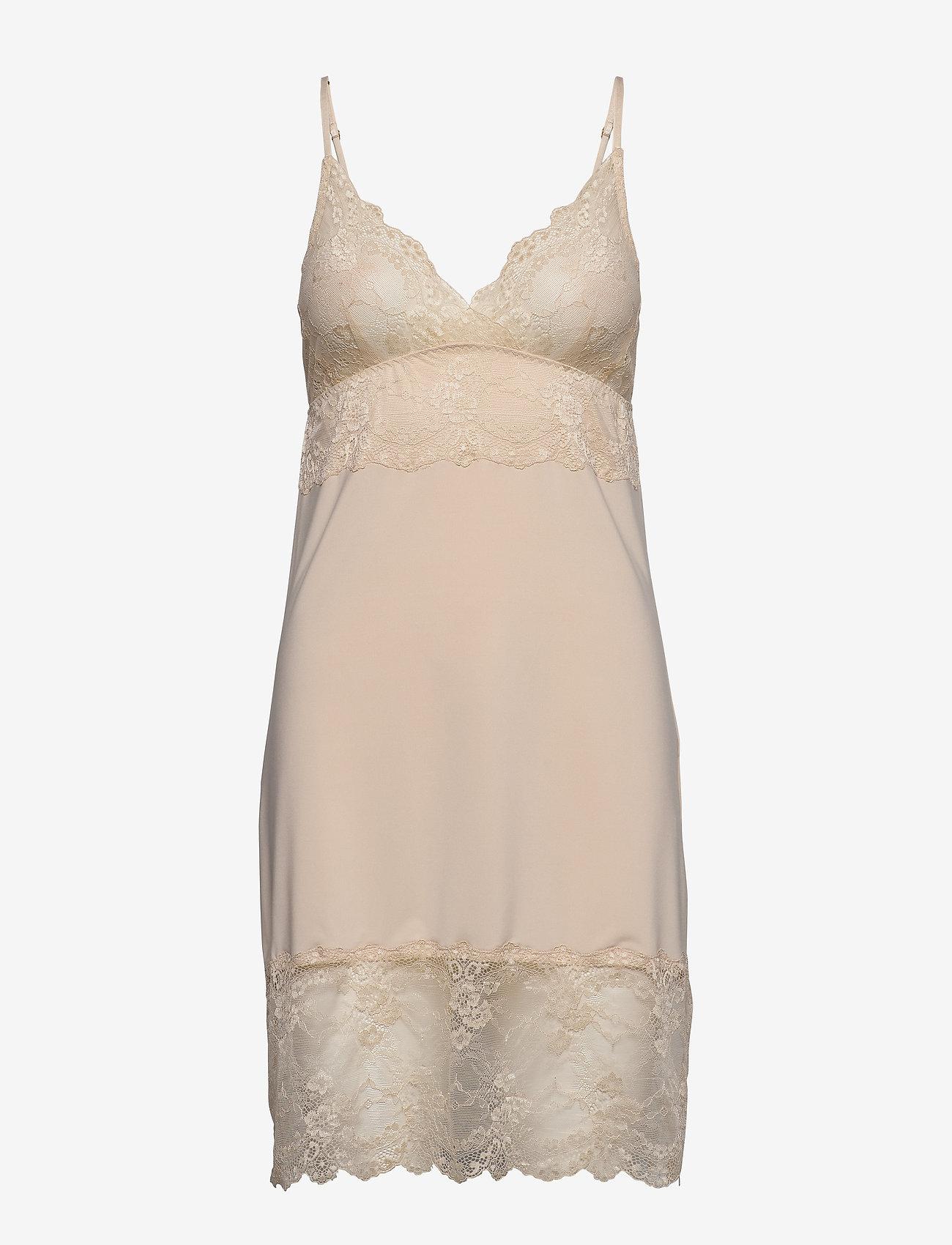 Rosemunde - Strap dress - bodies & slips - whisper beige - 0