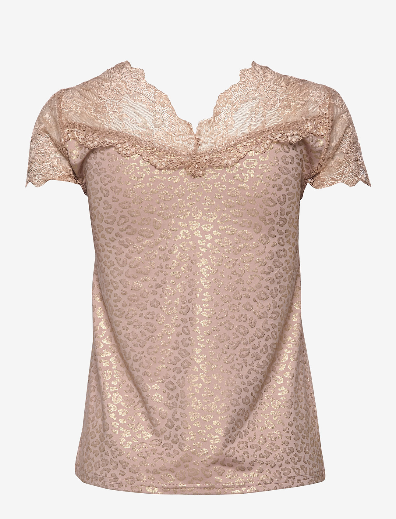 Rosemunde T-shirt ss - Blouses & Shirts VINTAGE LEOPARD GOLD FOIL PRINT