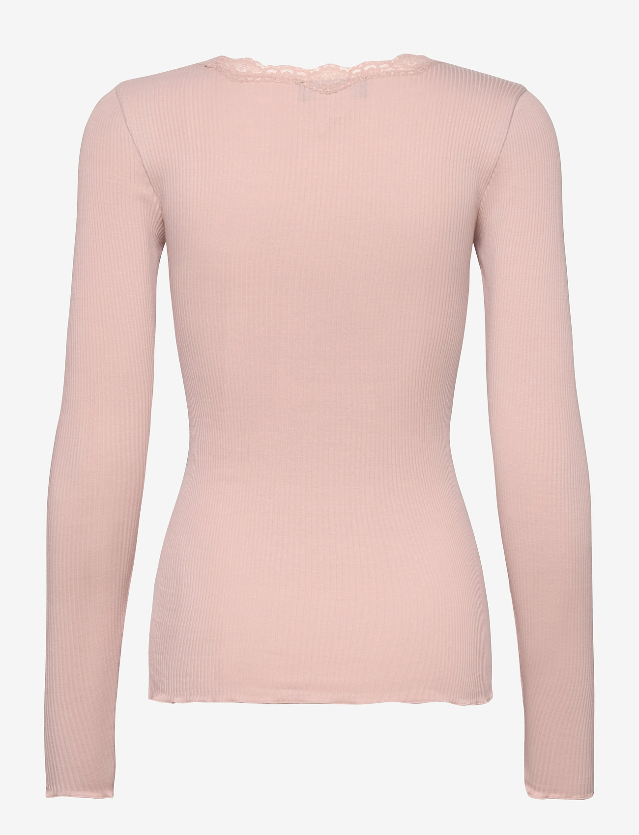 Rosemunde - Organic t-shirt regular w/lace - långärmade toppar - vintage powder - 1