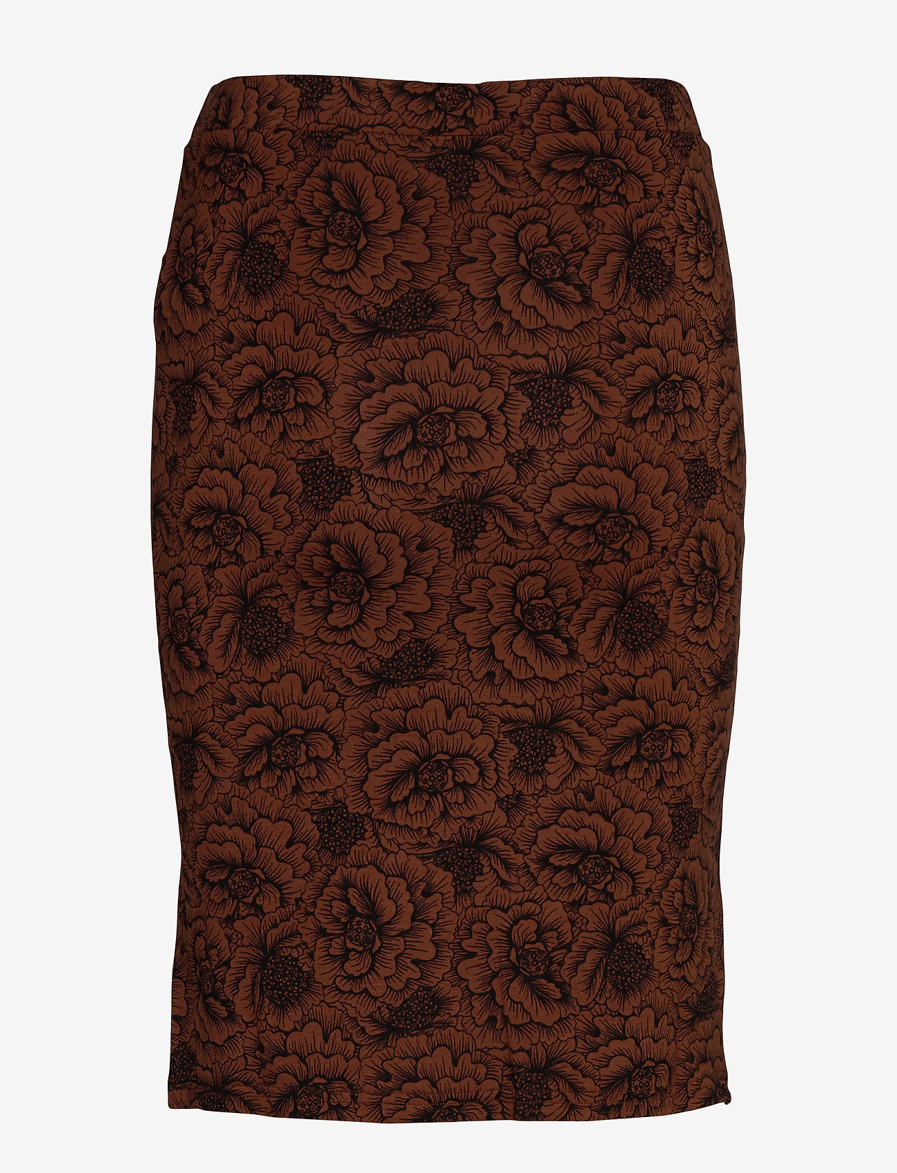 Skirt (Amber Brown Rose Print) - Rosemunde mZsI2i