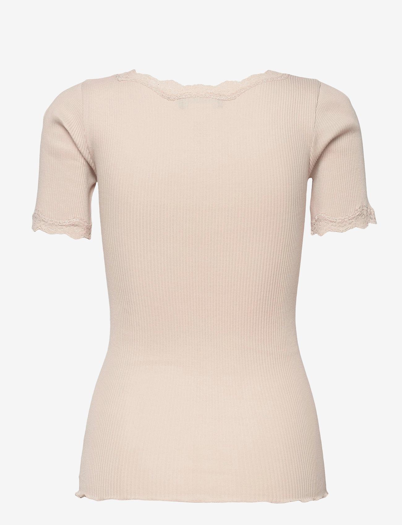 Rosemunde - Organic t-shirt regular ss w/ rev,v - t-shirts - cacao - 1