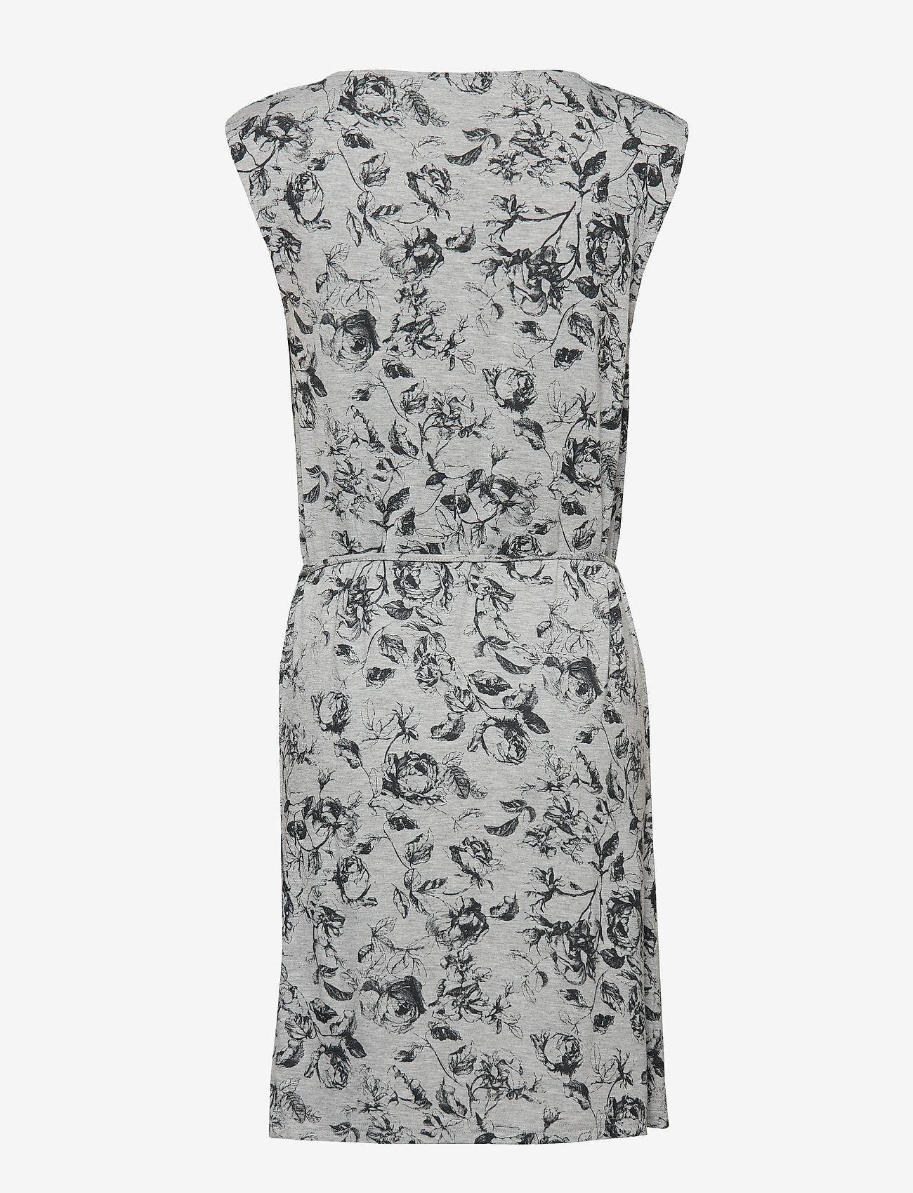 Rosemunde Dress ss - Sukienki GREY VINTAGE ROSE PRINT - Kobiety Odzież.