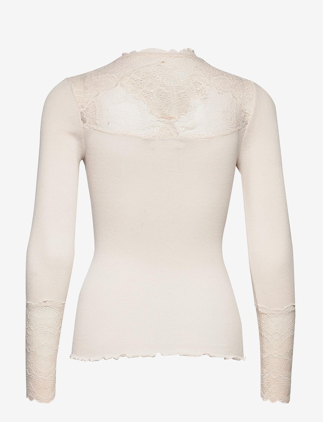 Silk T-shirt Regular Ls W/ Lace (Soft Powder) - Rosemunde vHy0vZ