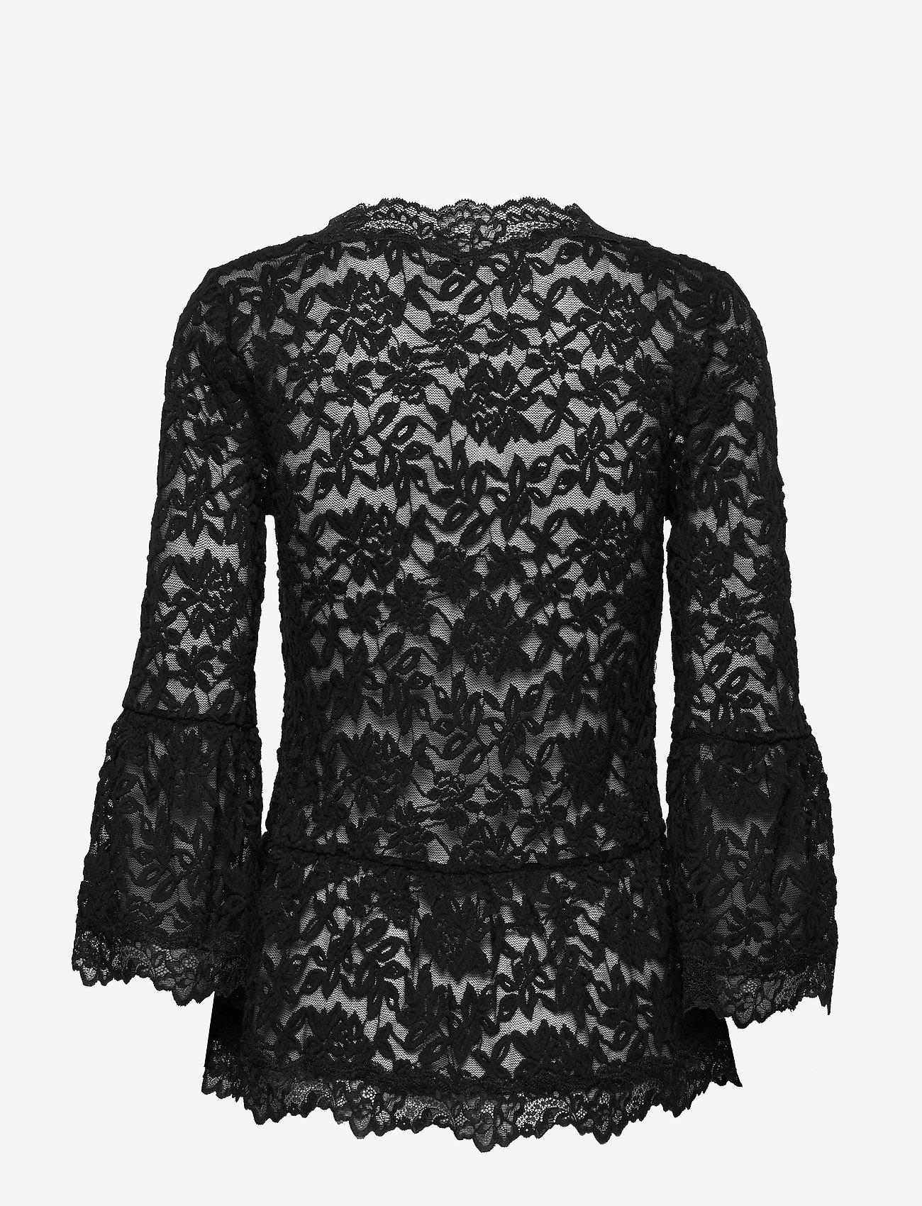 Rosemunde T-shirt 3/4 s - Bluzki & Koszule BLACK - Kobiety Odzież.