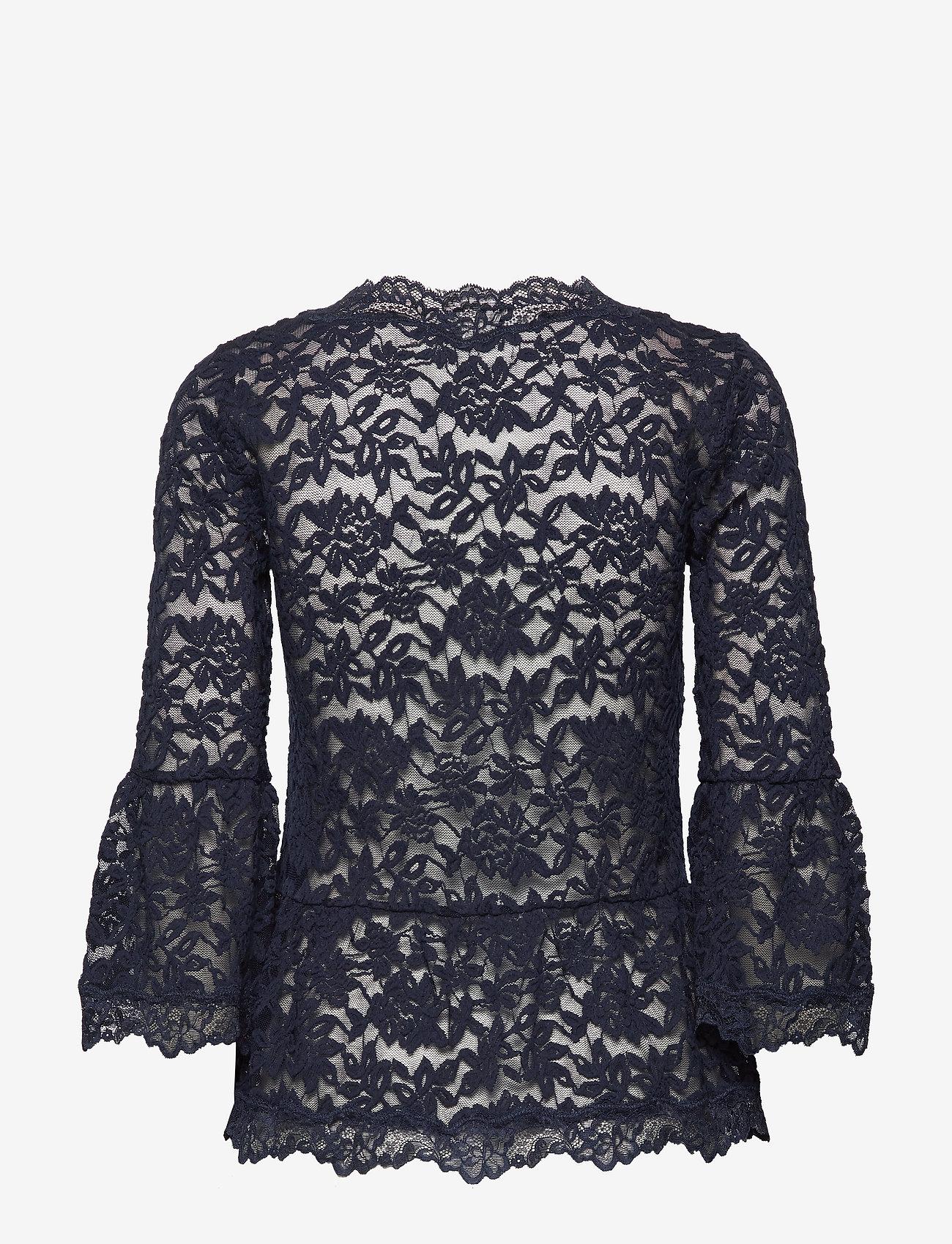 Rosemunde T-shirt 3/4 s - Bluzki & Koszule DARK BLUE - Kobiety Odzież.