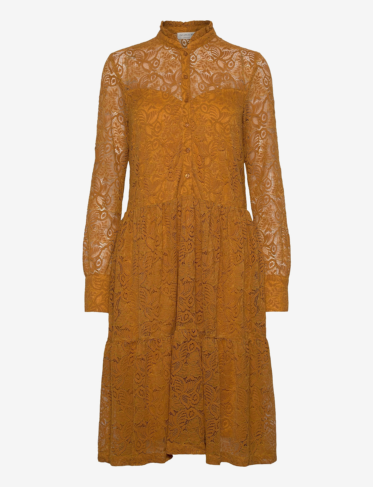 Rosemunde - Dress ls - cocktail-kjoler - golden mustard - 0
