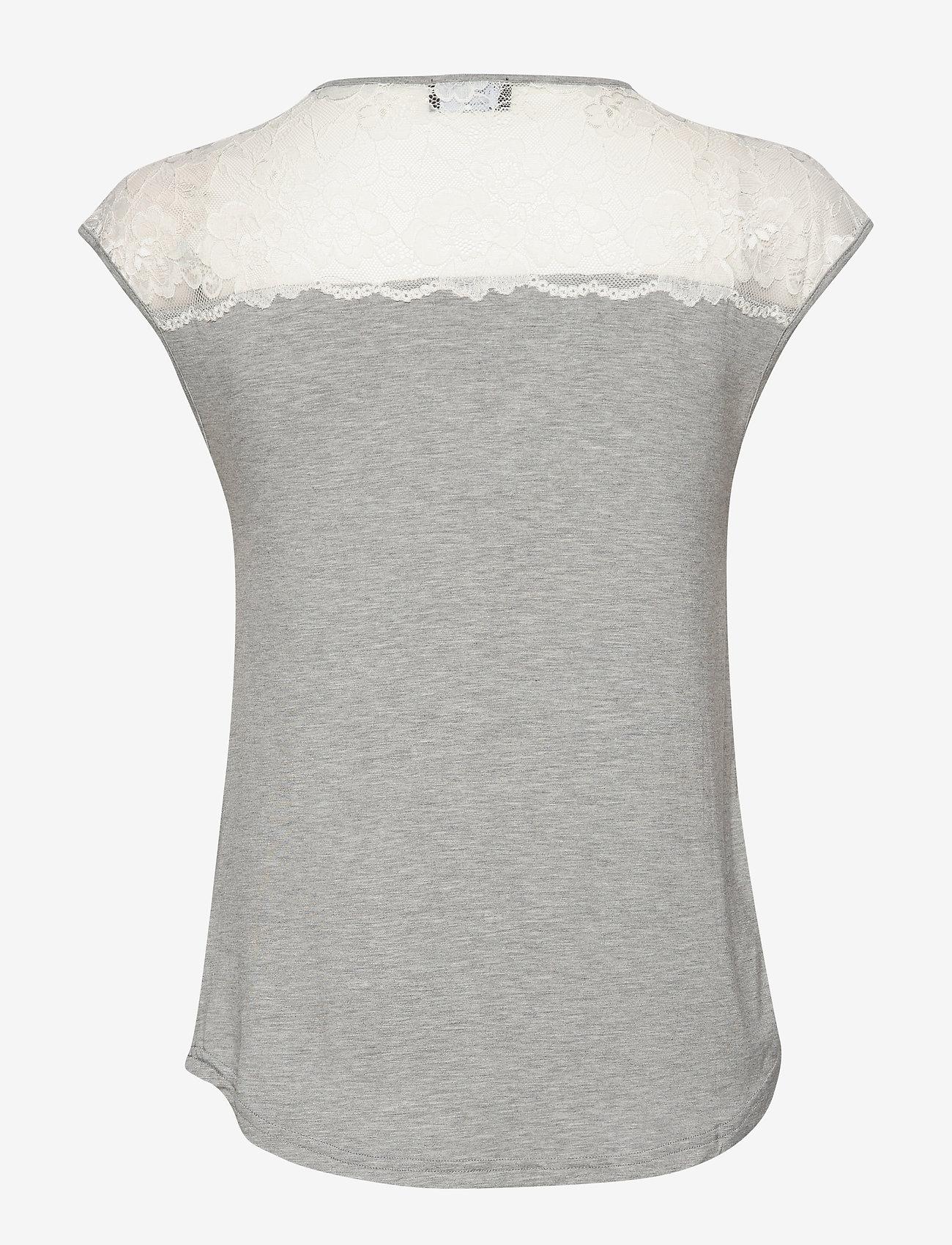 T-shirt Ss (Light Grey Melange W/ivory) (29.50 €) - Rosemunde BAXVh