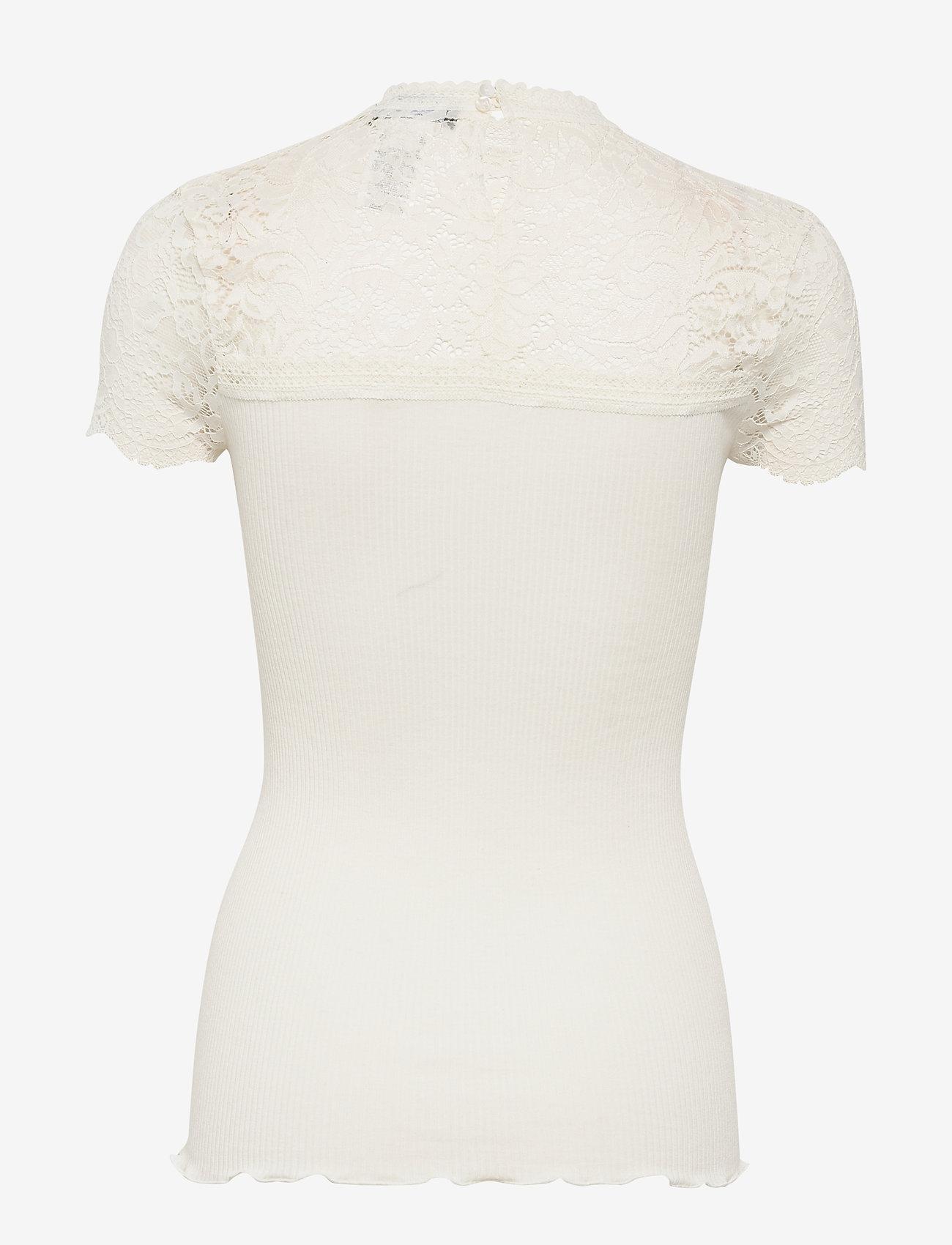 Silk T-shirt Turtleneck Regular Ss (Ivory) - Rosemunde CDHjtA