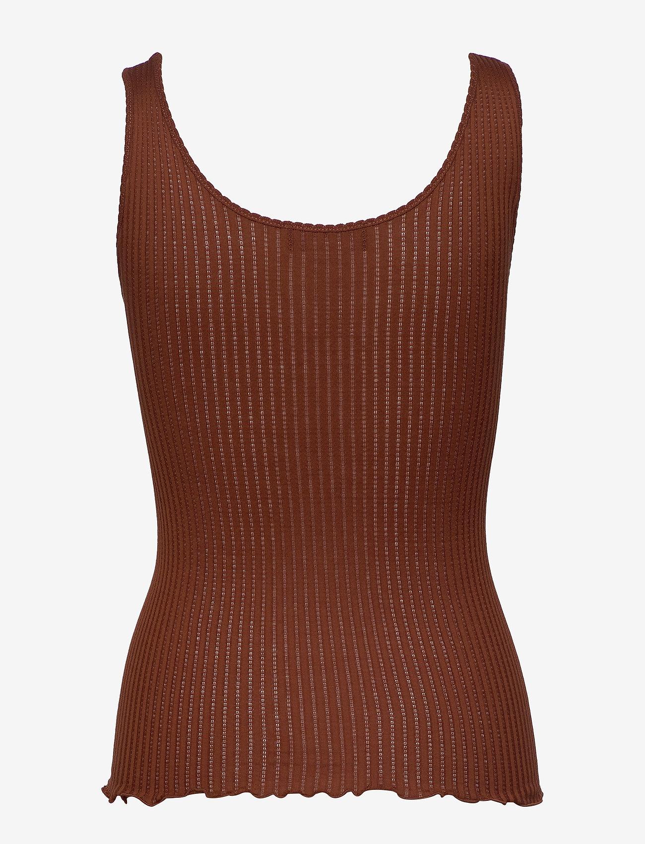 Rosemunde Silk top regular - T-shirty i zopy AMBER BROWN - Kobiety Odzież.