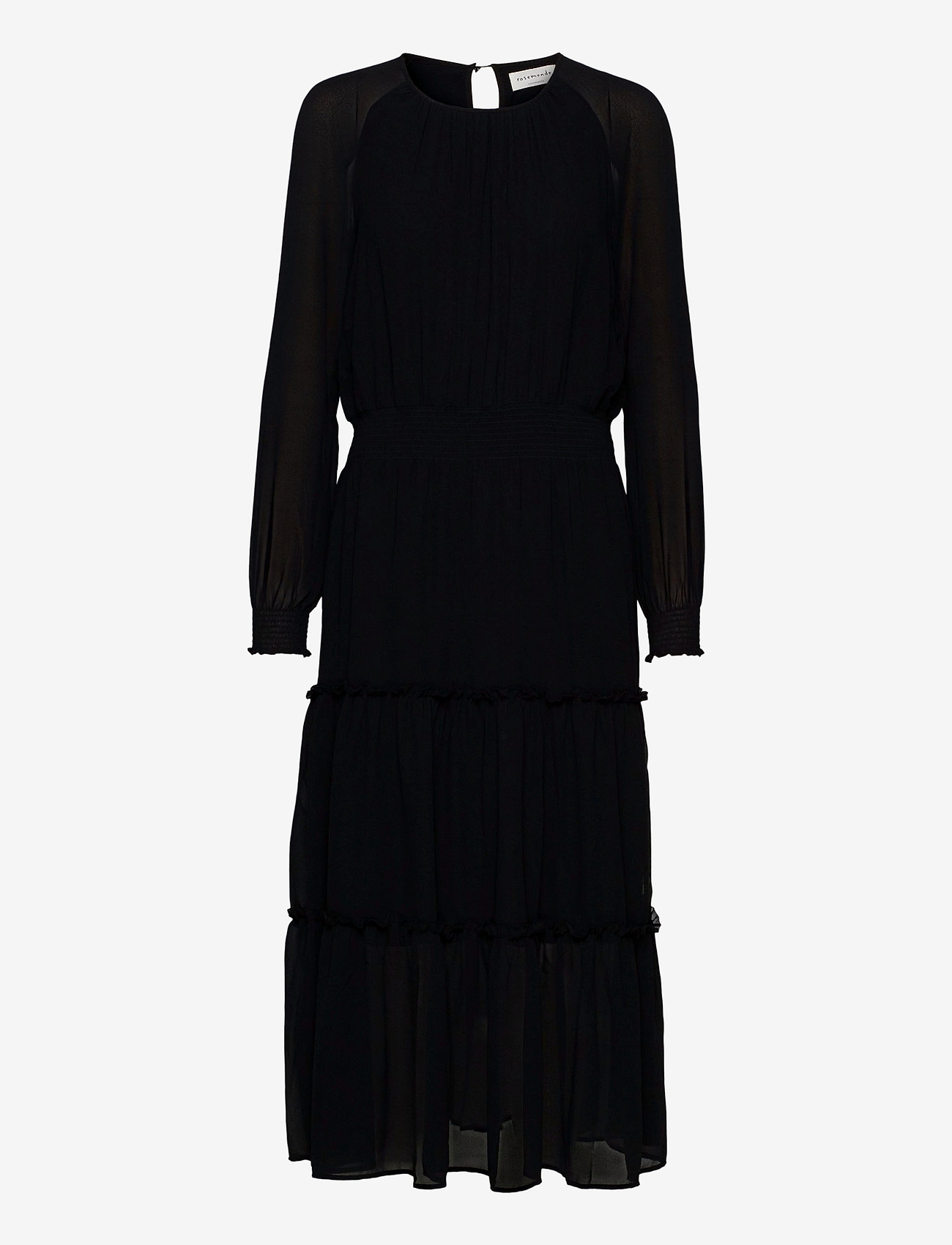 Rosemunde - Dress ls - maxi kjoler - black - 0