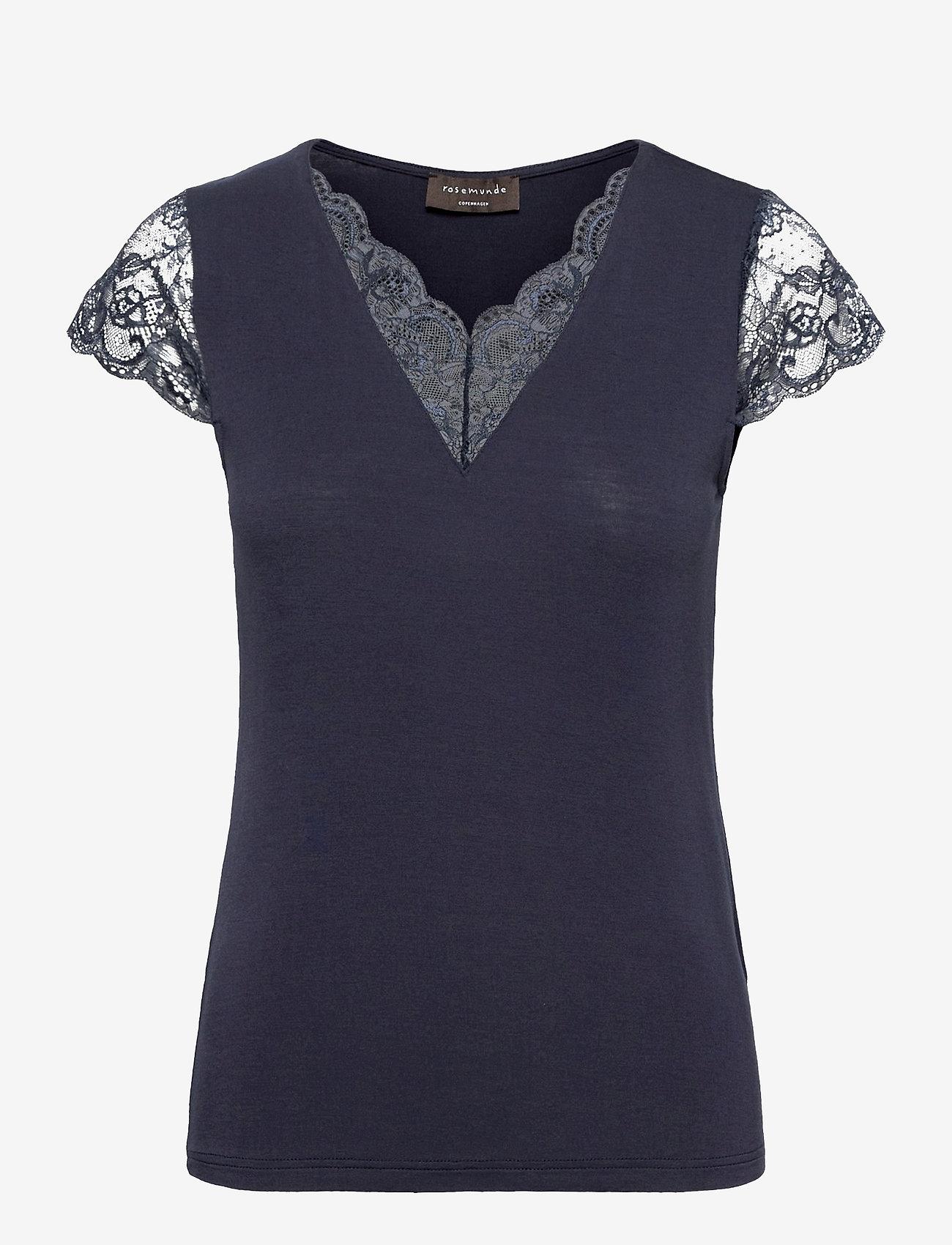 Rosemunde - T-shirt ss - t-shirts - blueberry - 0
