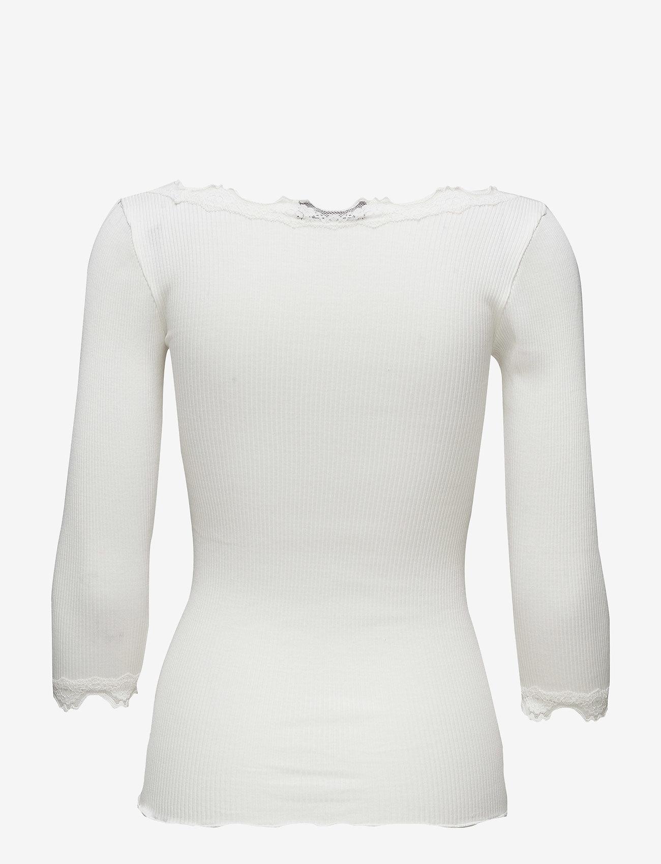 Rosemunde - Silk t-shirt boat neck regular w/vi - lange mouwen - new white