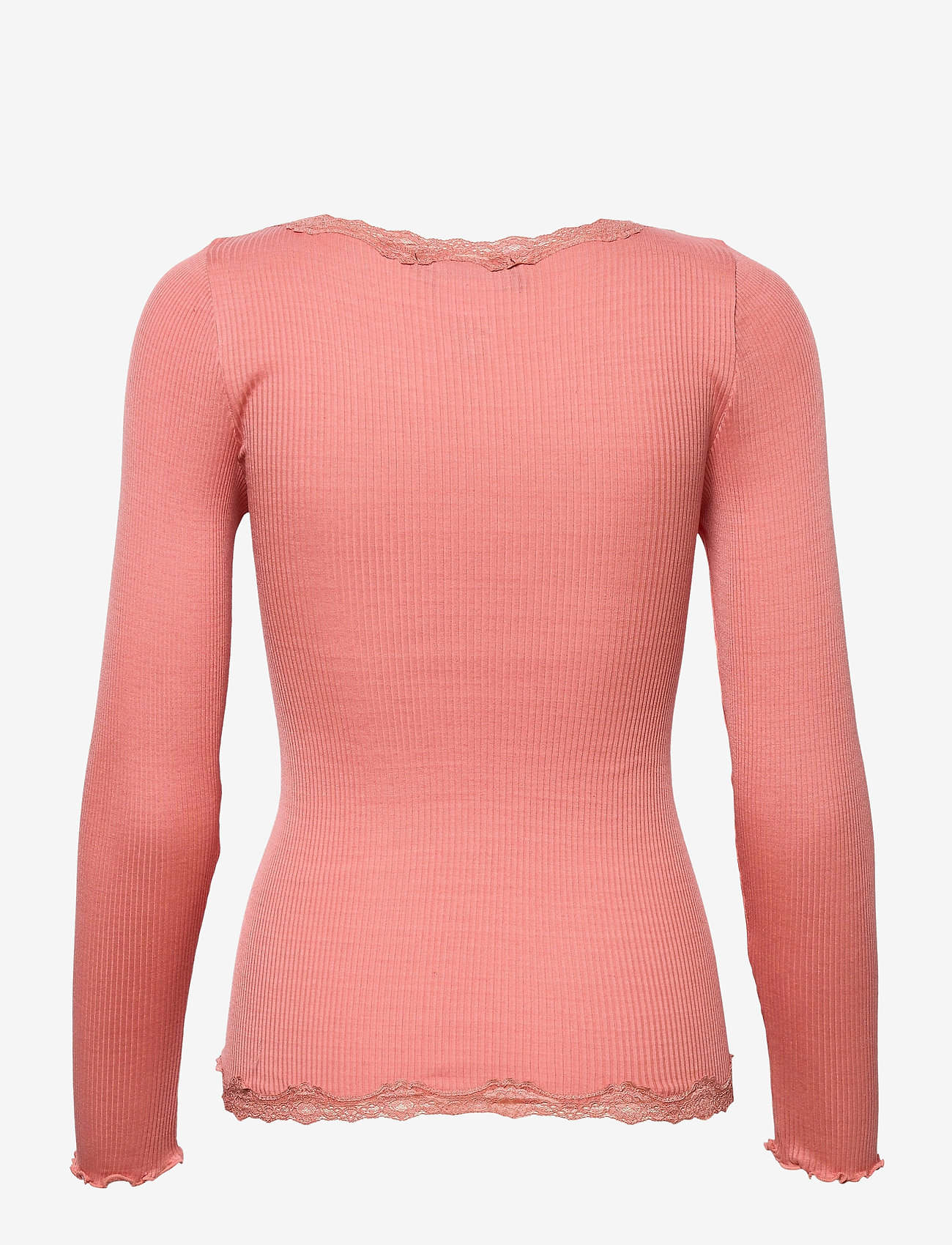 Rosemunde - Silk cardigan w/ lace - neuletakit - dark peach - 1
