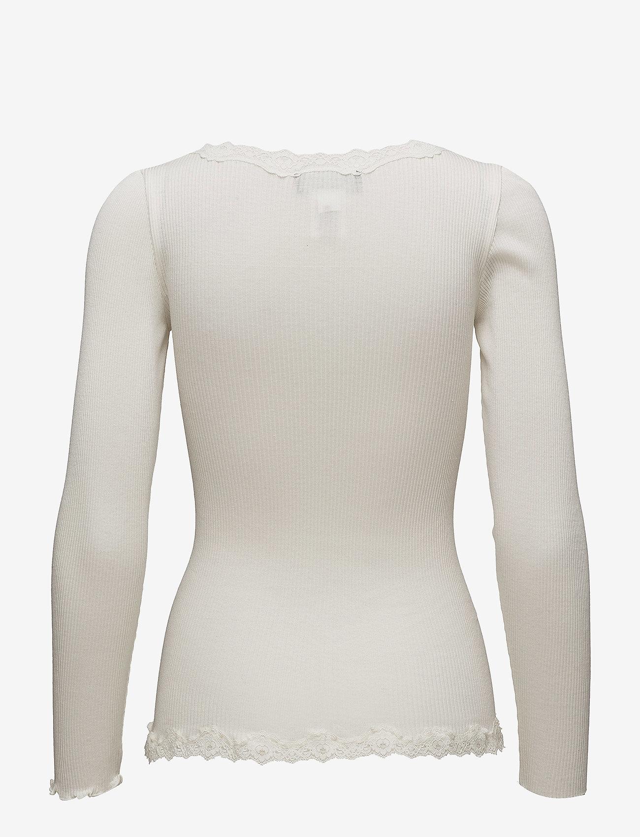 Rosemunde - Silk cardigan regular ls w/rev vint - cardigans - ivory - 1