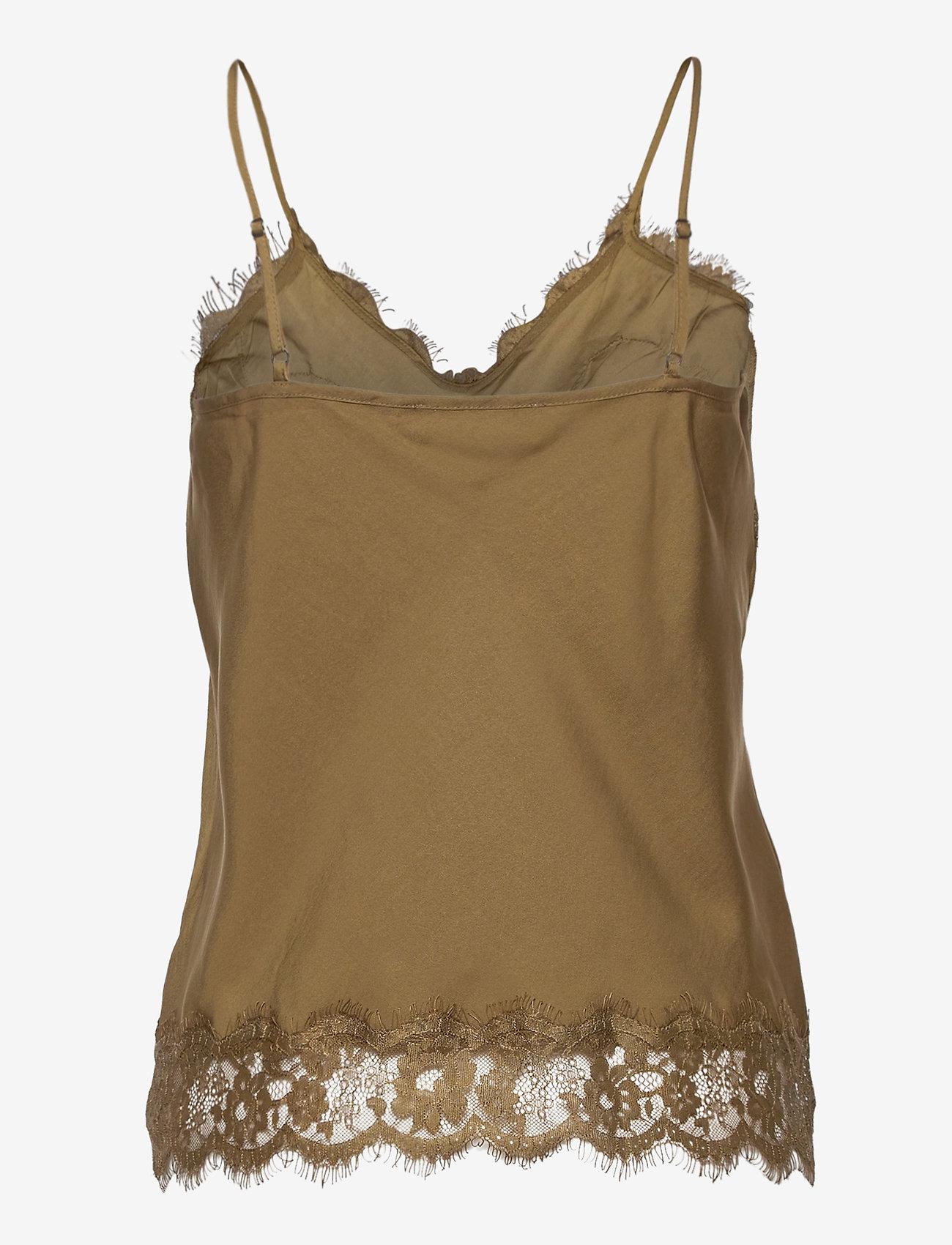 Rosemunde - Strap top - sleeveless tops - military olive - 1