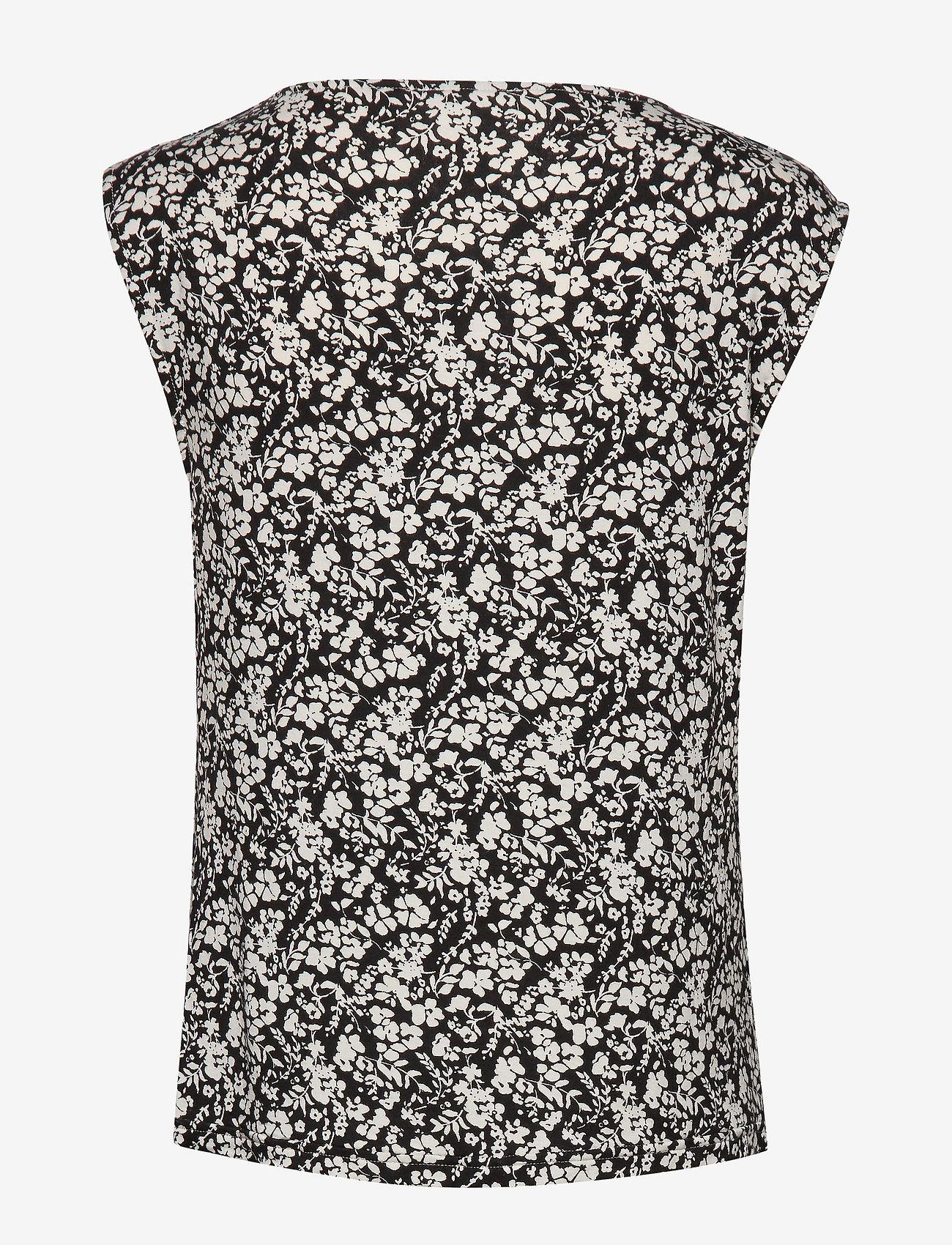 Rosemunde - T-shirt ss - Ærmeløse bluser - ivory small floral print - 1