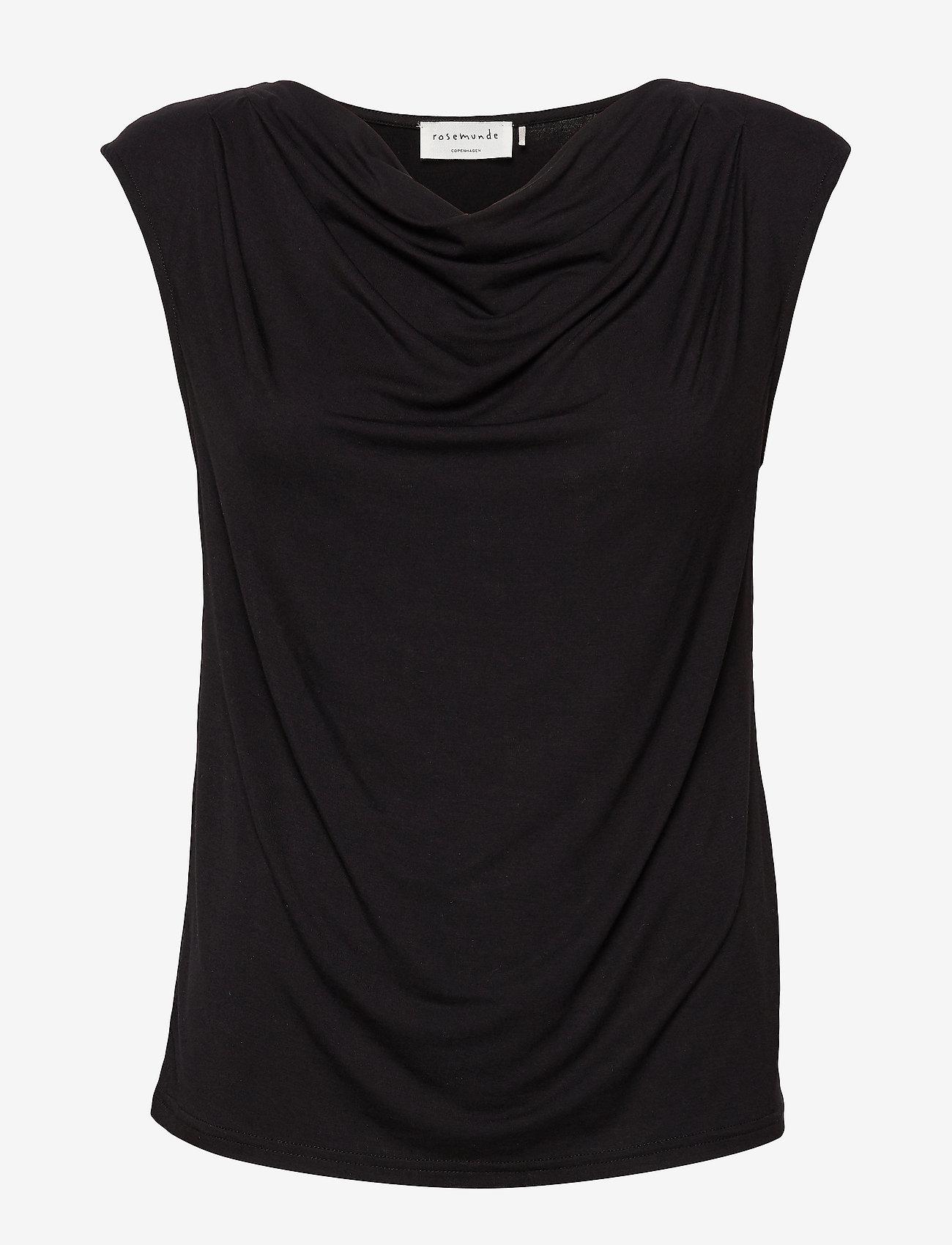 Rosemunde - T-shirt ss - ermeløse bluser - black - 0