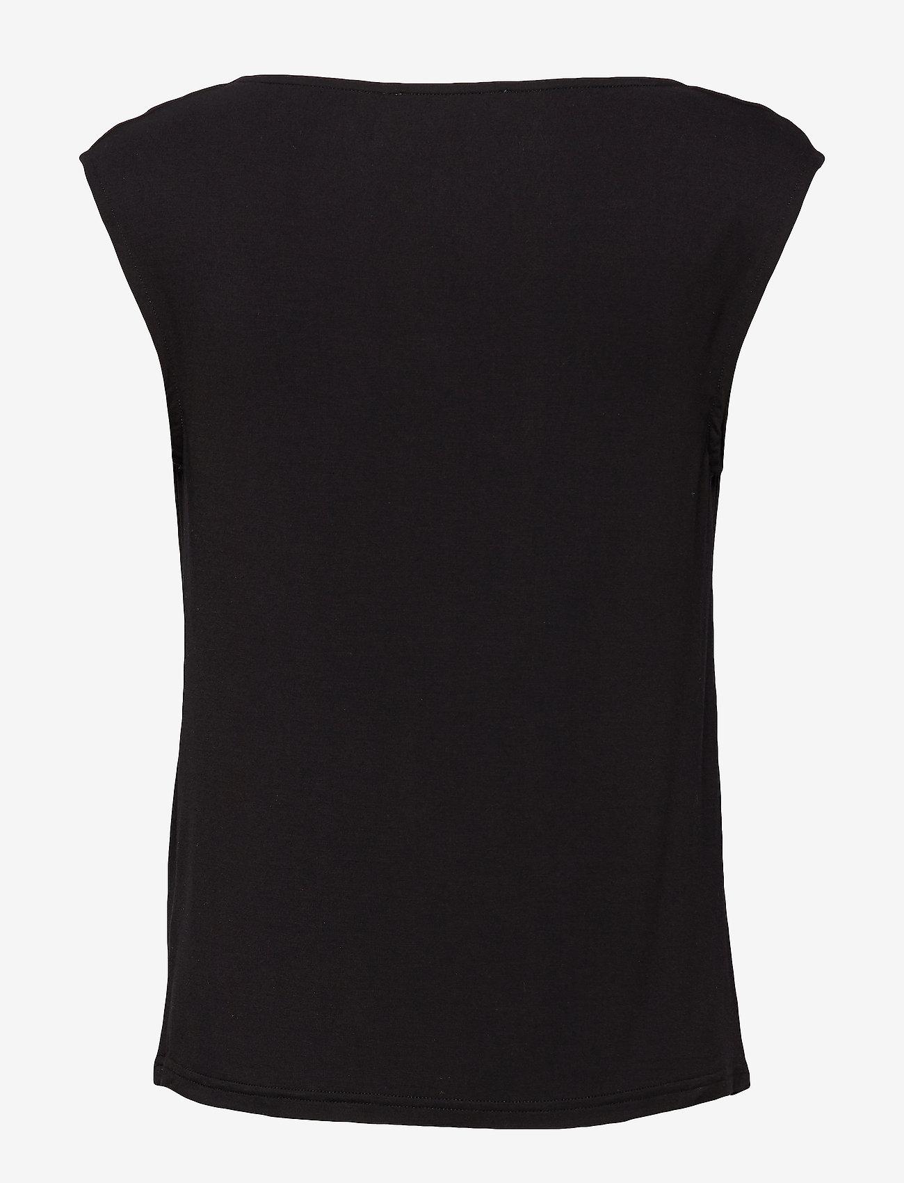 Rosemunde - T-shirt ss - ermeløse bluser - black - 1