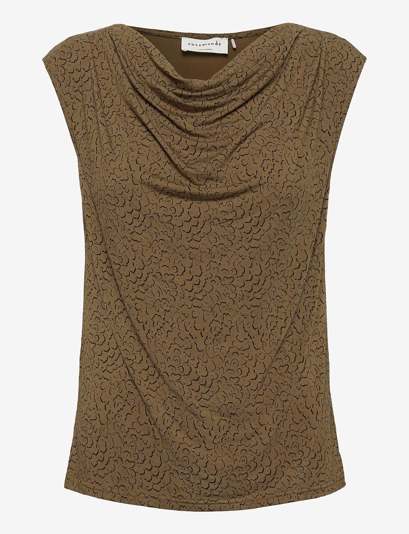 Rosemunde - T-shirt ss - ermeløse bluser - green whirlwind print - 0