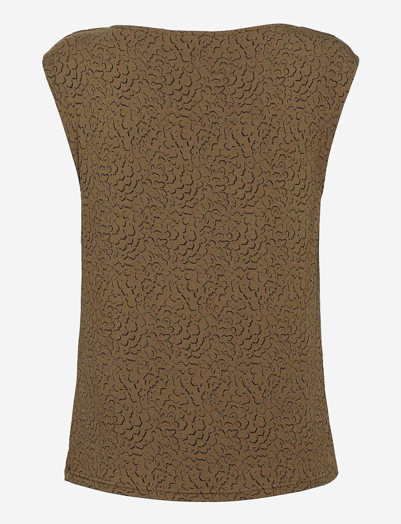 Rosemunde - T-shirt ss - ermeløse bluser - green whirlwind print - 1