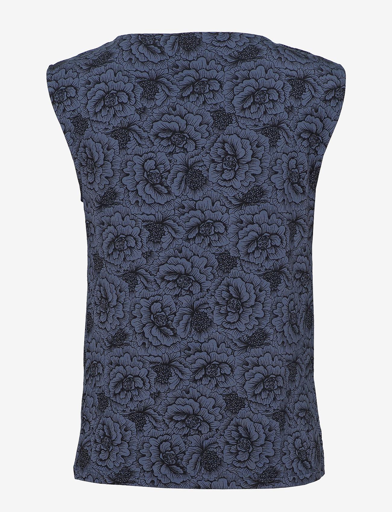 Rosemunde - T-shirt ss - ermeløse bluser - true navy rose print - 1
