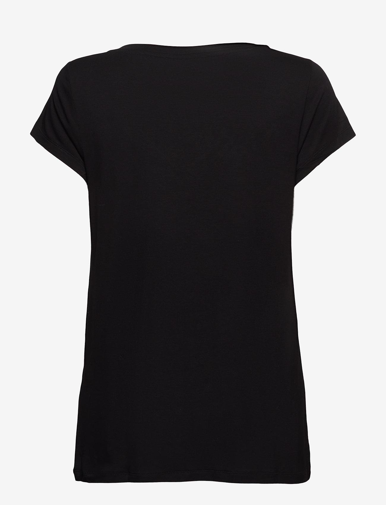 Rosemunde - T-shirt ss - t-shirts - black - 1
